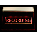 Titus HPL RECORDING Hanging Plexiglas Light fixture - 12 VDC Red LED