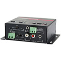 Hall Research AMP-4840 Audio Amplifier with Microphone Mixer and RS-232 Control - 40 Watt