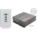 Hall Research EX-HDU-IP HDMI and USB Extension on CAT6 with Audio Integrated Control and IP