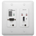 Hall Research UHBX-R-WP HDBaseT Wall Plate Receiver with IR RS-232 and PoH