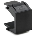 HellermannTyton Blank Plastic Insert Keystone Wall Plate Module 10Pack Black