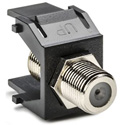 HellermannTyton FINSERT-BK F Keystone Module For Wallplate Black