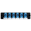 HellermannTyton VFAP6SSMSCZ FT Adapter Panel Preloaded with 6 Simplex SC SM Blue