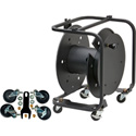Hannay Reels AVD-3 Cable Reel with slotted divider disc and casters