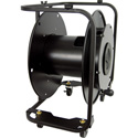 Hannay Reels AVF-18 Fiber Optic Series Metal Cable Reel for up to 1000 Feet of SMPTE Cable - with Casters