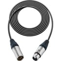 TecNec Intercom Straight Extension Cable 4 Pin XLR M to XLR F 15Ft