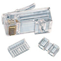 Ideal 85-366 RJ45 Modular Plug 8Way 1Port  CAT6 -25pc pkg