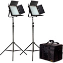 ikan IFB1024-2PT-KIT Kit with 2 X IFB1024 Lights w/AB and Sony V-Mount Battery P