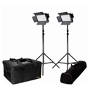 ikan IFB576-2PT-KIT - 2 x IFB576 Lights w/ AB and Sony V-Mount Battery Plates