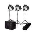 Ikan IFD1024-SP-KIT 3xIFD1024-SP Lights w/AB and V-Mount Plates