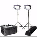 ikan IFD576-2PT-KIT Kit with 2 X IFD576 Lights w/AB and Sony V-Mount Battery Pla