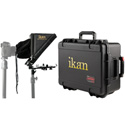 iKan PT-ELITE-LS-TK Elite Universal Tablet & iPad Teleprompter for Light Stand with Rolling Hard Case