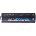iPower IPAA-2600 Professional Grade LiPo AA Rechargeable Batteries (1.5V 2166mAh) - 4-PK