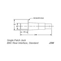 Trompeter J3W Standard WECo Patch Jack 75 Ohm BNC Interface