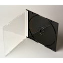 Microboards JEWEL-SL-200 Jewel Case Slimline Clear/Black - 200 Pack