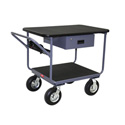 Jamco TW236-N8 24x36 High Tech Tubular Frame Instrument Work Center Cart with Drawer and Power Strip