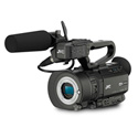 JVC GY-LS300CHU Compact 4KCAM UHD Camera Body with Handle /Mic /Battery and Powe