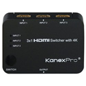 KanexPro SW-HD3X14K 3x1 HDMI Switcher with 4K Support