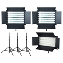 FloLight KIT-FL-330AWT3 3-Light Kit - 2 FL-330AWT 1 FL-220AWT 3 LSMD 8ft Stands
