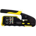 Klein Tools VDV226-110 Pass-Thru Modular Crimper Tool - Yellow/Black