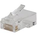 Klein Tools VDV826-702 Pass-Thru Modular Data Plug - CAT5E - 50 Pack