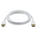 Kramer C-MHM/MHM Flexible High-Speed HDMI Cable with Ethernet and Pull Resistant Connectors - White Jacket -  1 Ft.