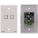 Kramer RC-2C(W) Wall Plate Insert - 2-Button Control Keypad - White