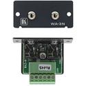 Kramer WA-3N(B) Wall Plate Insert - Dual 3.5mm Stereo Audio to Terminal Block - Black