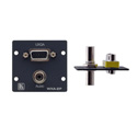 Kramer WXA-2P 15-pin HD 3.5mm Stereo Audio Wall Plate Insert - Black