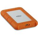 LaCie STFR1000800 1TB Rugged Portable Hard Drive - USB-C - Orange