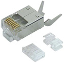 L-Com TDS8PC6 Category 6 Rated RJ45 Connectors Crimp Plug (8X8) - Shielded - 50