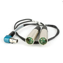 Lectrosonics MCSR/5PXLR2  Audio Cable for SR Receiver - Right Angle TA5 to Two 3-Pin Male XLRs - 20 Inches