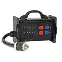 Lex BNB3-3B Tail Input 30 Amp Bento Box to (3) NEMA 5-20 Duplex Receptacle Power Distribution Box