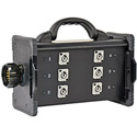 Lex BNZJ2-6M-CLP Bento Enclosure LSC19 Panel Mount Inlet with Feed Thru (6) 20A Neutrik PowerCon C-Clamp Mountable Type1