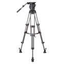 Libec RSP-750M Aluminum Tripod System with Mid-level Spreader for ENG Setups