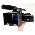 Listec EN-08 8 Inch On-Camera Teleprompter with Compact Folding Hood Assembly
