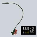 Littlite L-9/18-LED-3 LED-3 Lampset Top Mount 18-inch Gooseneck w/ Automotive Wiring Kit