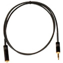 LoProfile StarQuad 3.5mm Stereo Male to Female18 Inches