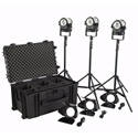 Litepanels Sola 4 Traveler Kit - (3) Sola 4 Daylight LED Fresnels
