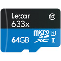 GoPro Lexar LSDMI64GBBNL633A  microSDXC 64GBADA BL 633X NL Card