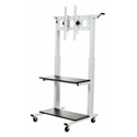 Luxor CLCD Crank Adjustable Flat Panel TV Cart