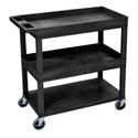 Luxor EC112-B Three Shelf Utility Cart