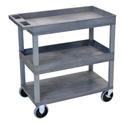 Luxor EC112HD-G Three Shelf Utility Cart