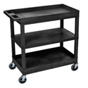 Luxor EC121-B Three Shelf Utility Cart