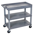 Luxor EC122-G Three Shelf Utility Cart