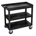 Luxor EC122HD-B Three Shelf Utility Cart