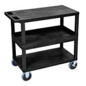 Luxor EC212HD-B Three Shelf Utility Cart
