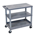 Luxor EC221-G Three Shelf Utility Cart