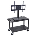 Luxor ET25CE-B Mobile Cart with Universal LCD TV Mount - 32W x 18D x 44.5H
