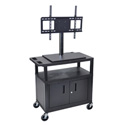 Luxor ET34CE-B Mobile Cart with Universal LCD TV Mount - 32W x 18D x 54.5H